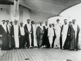 Mansoor Al Arayedh, 7th from left with Shaikh Isa bin Salman Al Khalifa, 10th from left